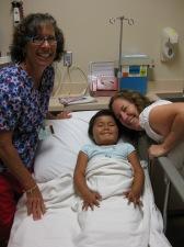 Nurse Peralee, Isa and Mommie.