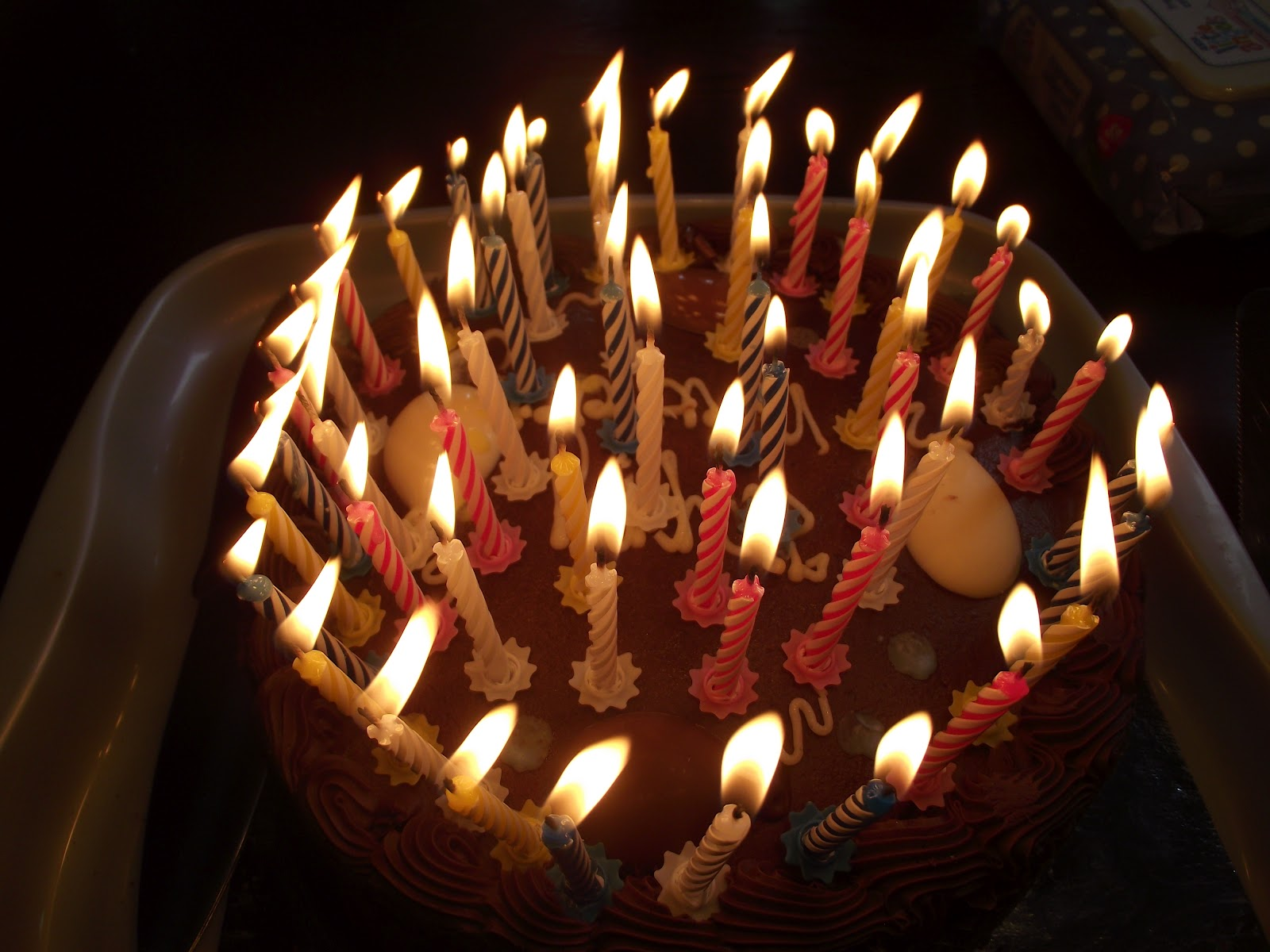 chocolate birthday cake candles