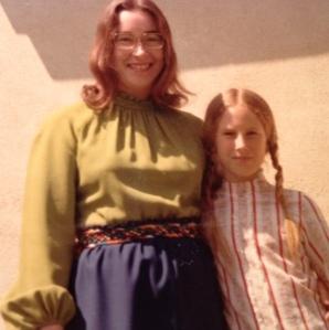 Mom and me, circa 1972