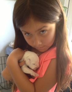 isa and puppy