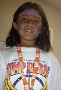 Isa after getting her face painted
