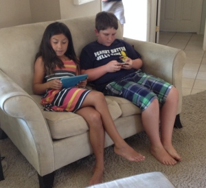 My daughter, Isa and my nephew J.J. hanging out on the couch. J.J. would not be here if his older sister Gillian had lived. Isa would not be here if she hadn't survived her leukemia. Take nothing for granted.