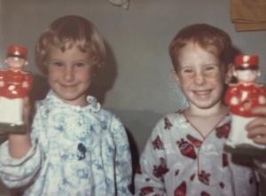 Me and my brother, Chris on Christmas morning.