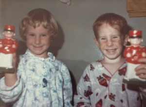 Me and my brother, Chris on Christmas morning.