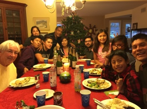 Christmas Eve dinner with my beautiful family.