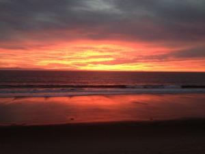 A recent sunset in Santa Barbara.