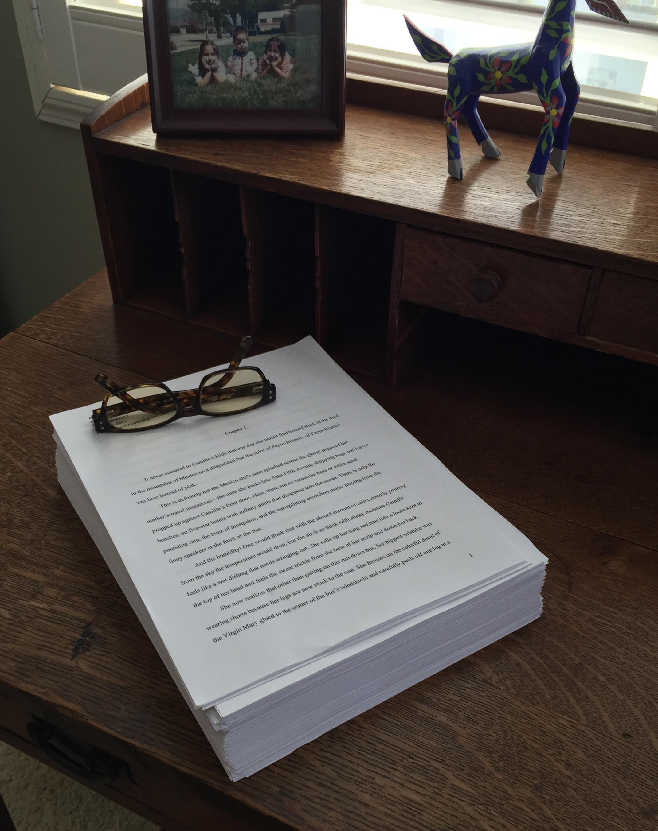 novel on desk